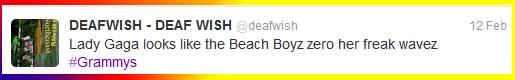Beach Boys Blow Lady Gaga's Mind Grammy's 2012