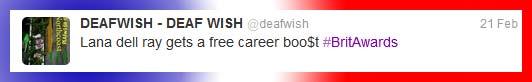 Lana Del Ray gets a career Boost - DEAFWISH