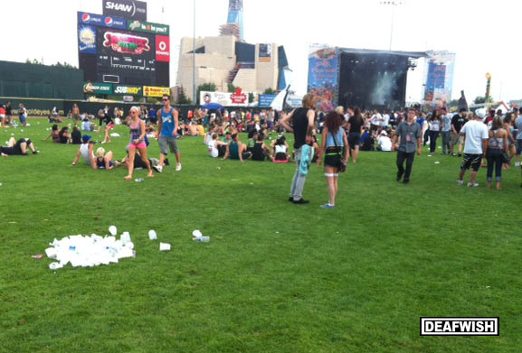 Party Cup Pile at Skrillex - DEAFWISH