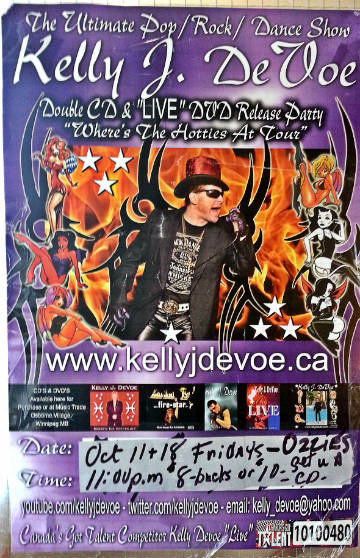 WINNIPEG: Kelly J Devoe – 2 Nites @ Ozzy's in October