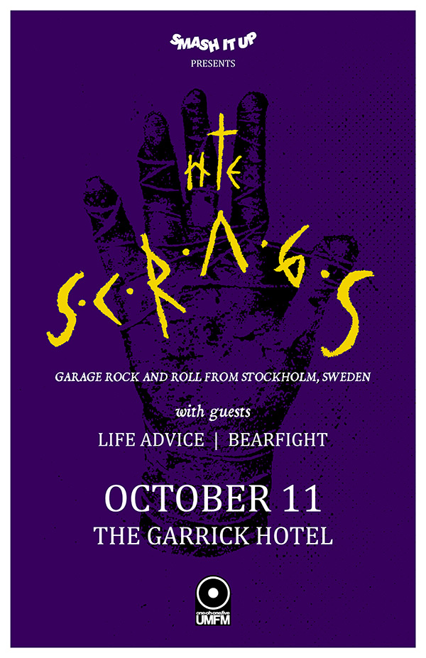 The Skrags, Life Advice & Bearfight at the Garrick Hotel / 10-11-2014 #Winnipeg