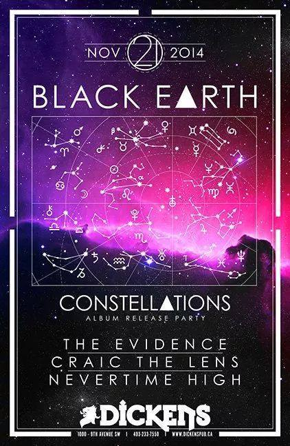 Black Earth, The Evidence, Craic the Lens & Nevertime High – Calgary, MB – Dickens Pub – 11.21.2014
