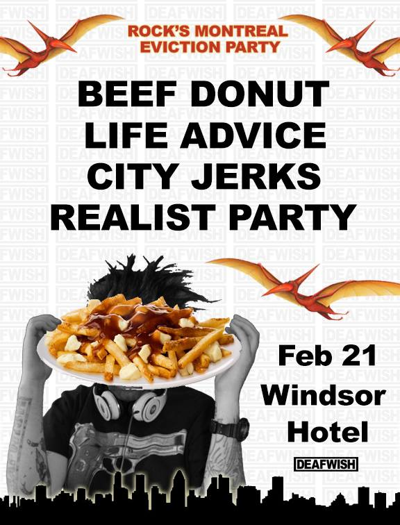 Life Advice, BeefDonut, Realist Party & The City Jerks @ the Windsor Hotel 02.21.2015 #winnipeg