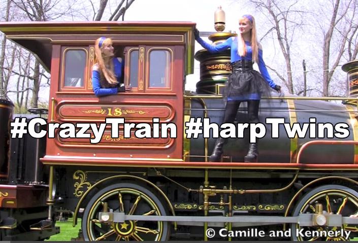 Ozzy Osbourne – Crazy Train #harpTwins #cover
