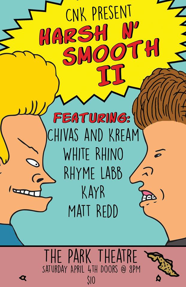 Chivas and Kream, White Rhino, Rhyme Labb, Kayr & Matt Redd @ Park Theatre – 04.04.2015 #winnipeg