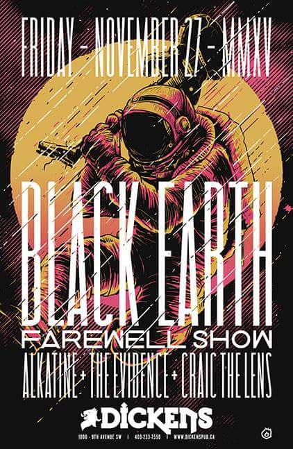 November 27 – 2015 | Black Earth – Farewell Show | Dickens Pub #calgary #rock